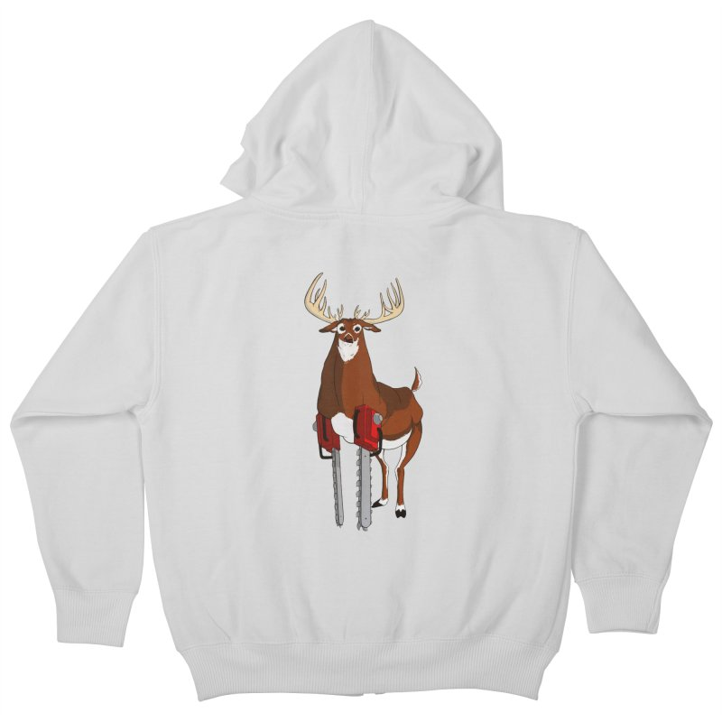 Chainsaw Deer Kids Zip-Up Hoody by pause's Artist Shop