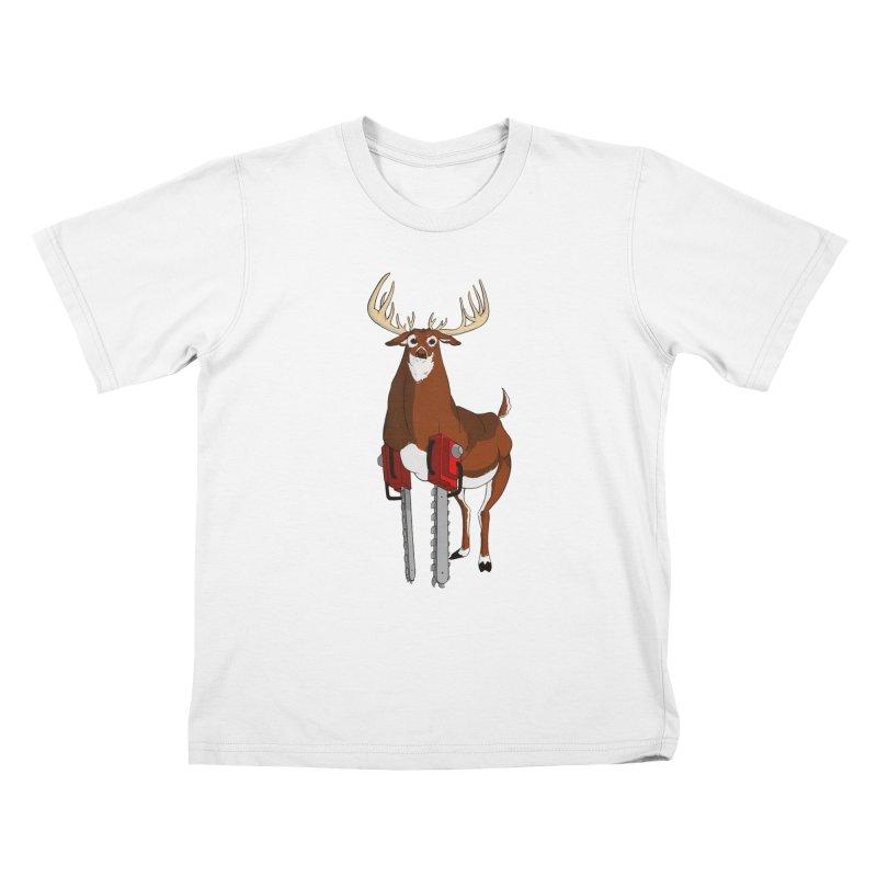 Chainsaw Deer Kids T-Shirt by pause's Artist Shop