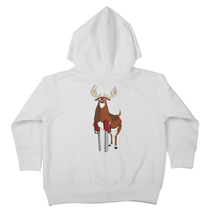 Chainsaw Deer Kids Toddler Zip-Up Hoody by pause's Artist Shop