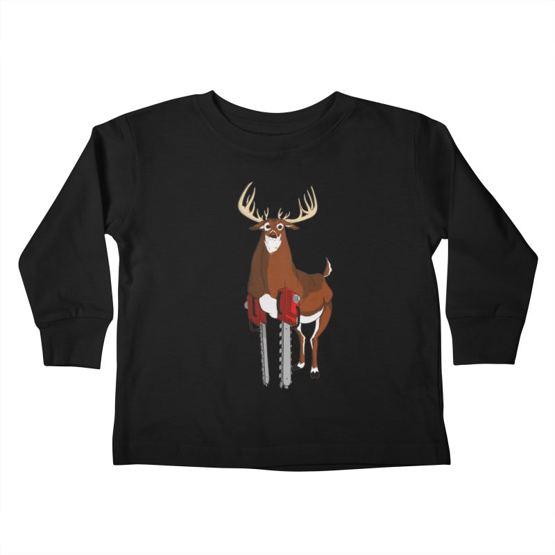 Chainsaw Deer Kids Toddler Longsleeve T-Shirt by pause's Artist Shop