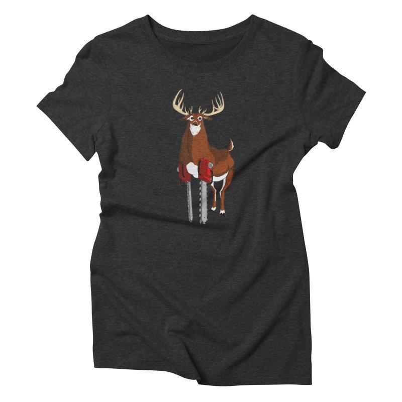 Chainsaw Deer Women's Triblend T-Shirt by pause's Artist Shop
