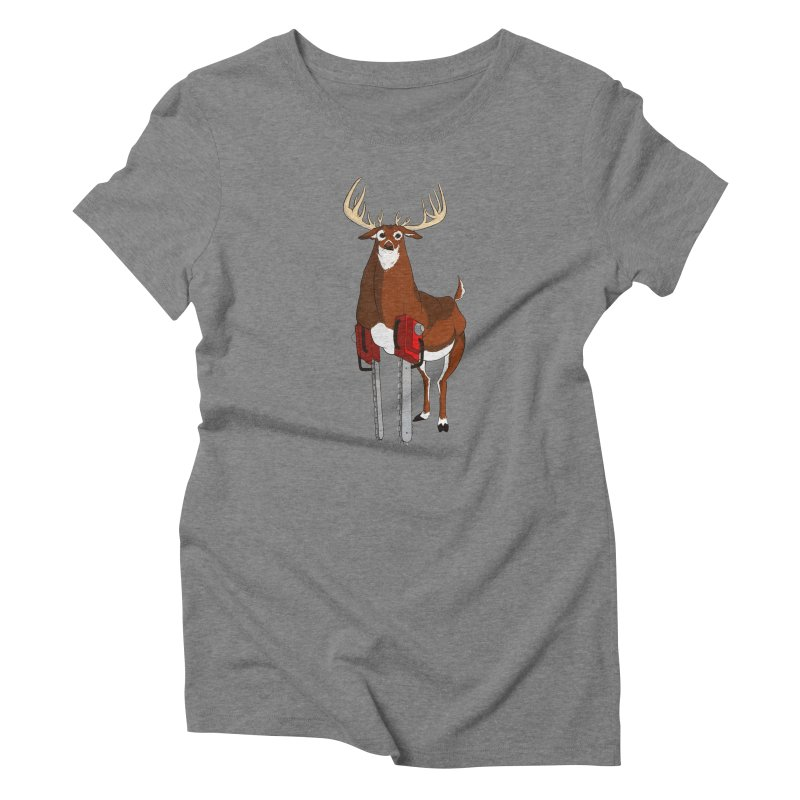Chainsaw Deer Women's Triblend T-Shirt by pause's Artist Shop