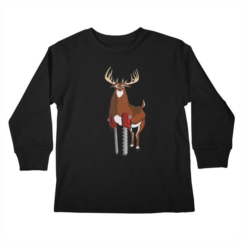 Chainsaw Deer Kids Longsleeve T-Shirt by pause's Artist Shop
