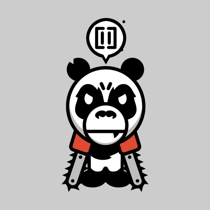 Cute Chainsaw Panda by pause's Artist Shop
