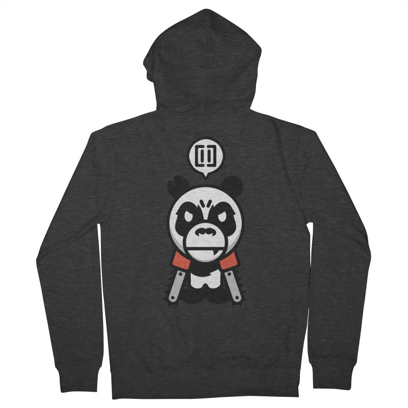 Cute Chainsaw Panda Women's Zip-Up Hoody by pause's Artist Shop