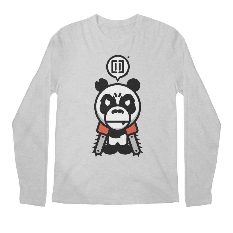 Cute Chainsaw Panda Men's Longsleeve T-Shirt by pause's Artist Shop