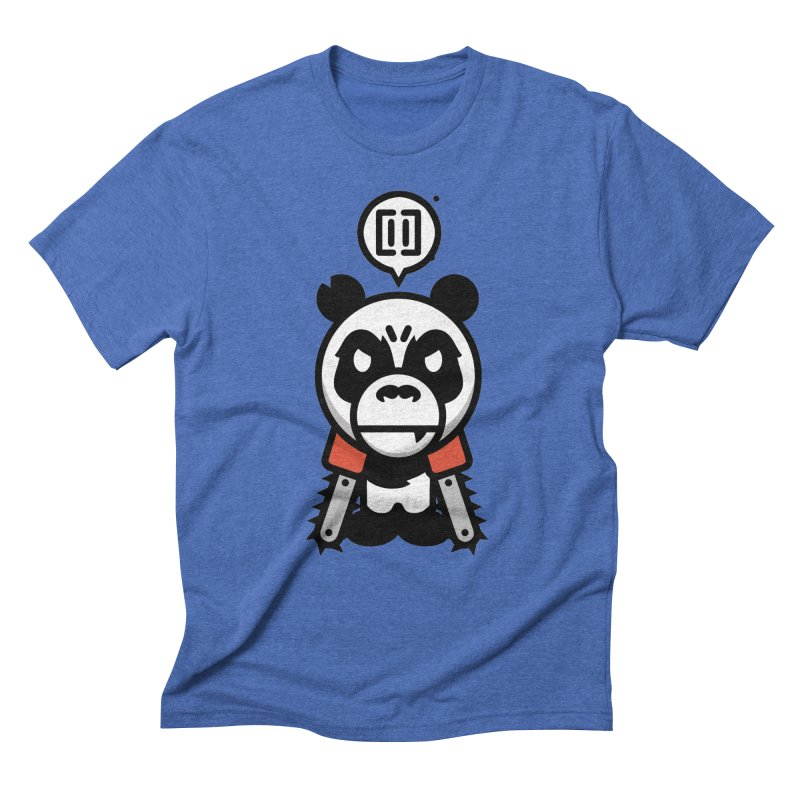 Cute Chainsaw Panda Men's Triblend T-Shirt by pause's Artist Shop