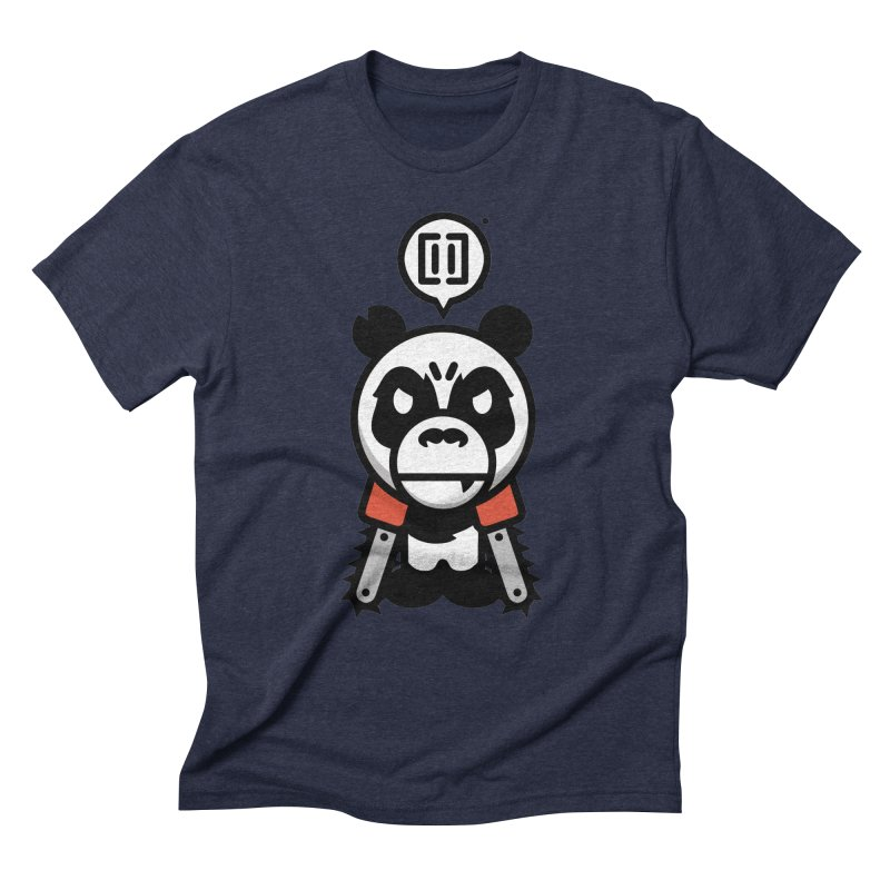Cute Chainsaw Panda Men's Triblend T-Shirt by pause's Artist Shop