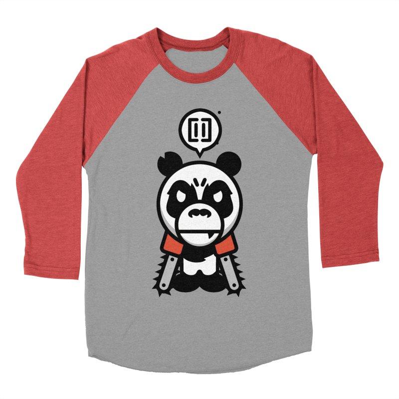 Cute Chainsaw Panda Women's Baseball Triblend T-Shirt by pause's Artist Shop