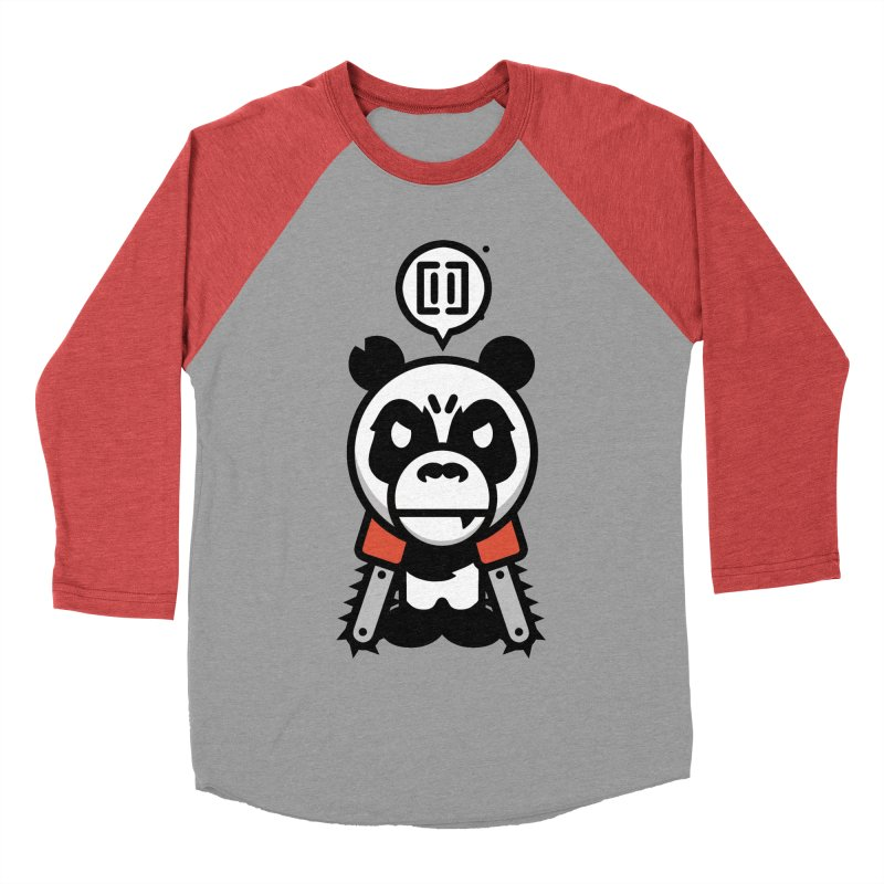 Cute Chainsaw Panda Men's Baseball Triblend T-Shirt by pause's Artist Shop