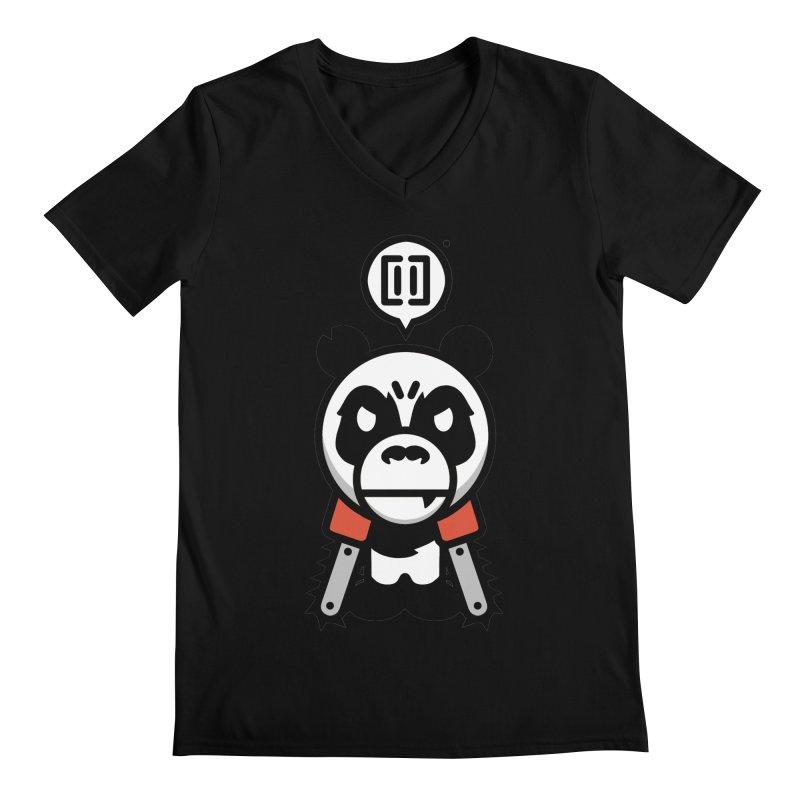 Cute Chainsaw Panda Men's V-Neck by pause's Artist Shop