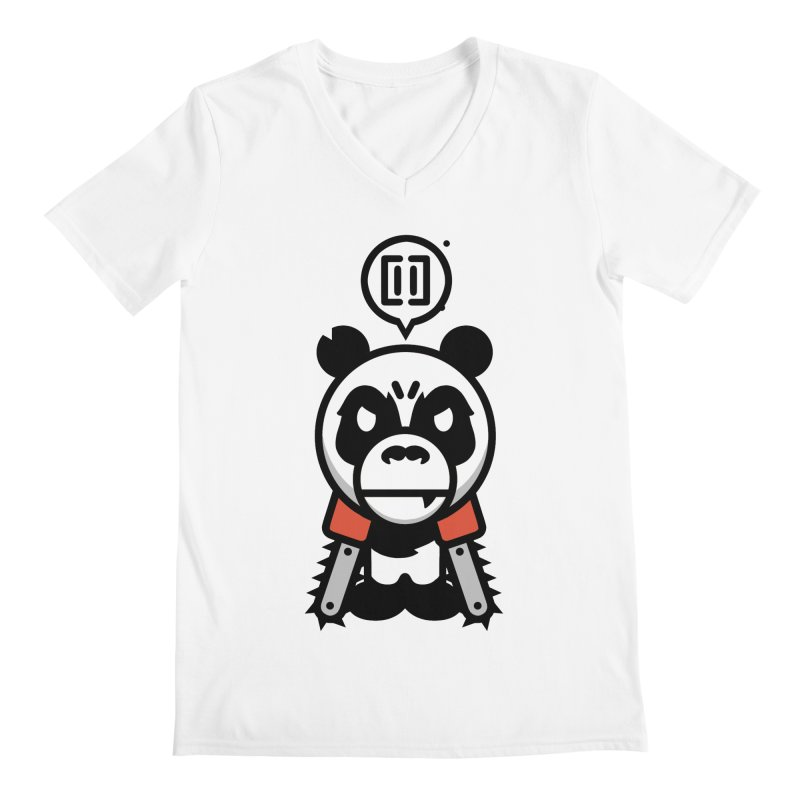 Cute Chainsaw Panda Men's V-Neck by pause's Artist Shop