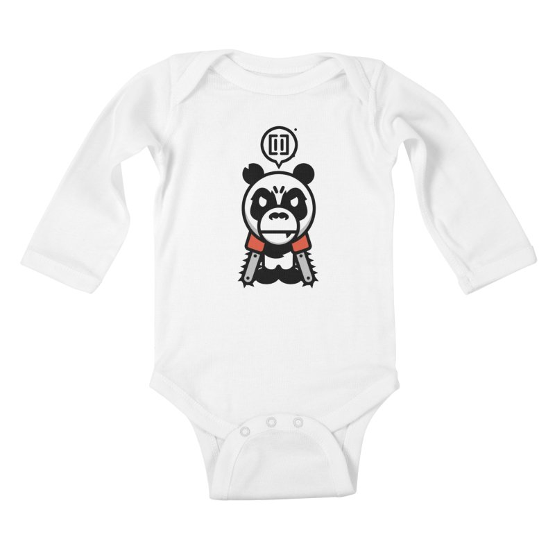 Cute Chainsaw Panda Kids Baby Longsleeve Bodysuit by pause's Artist Shop
