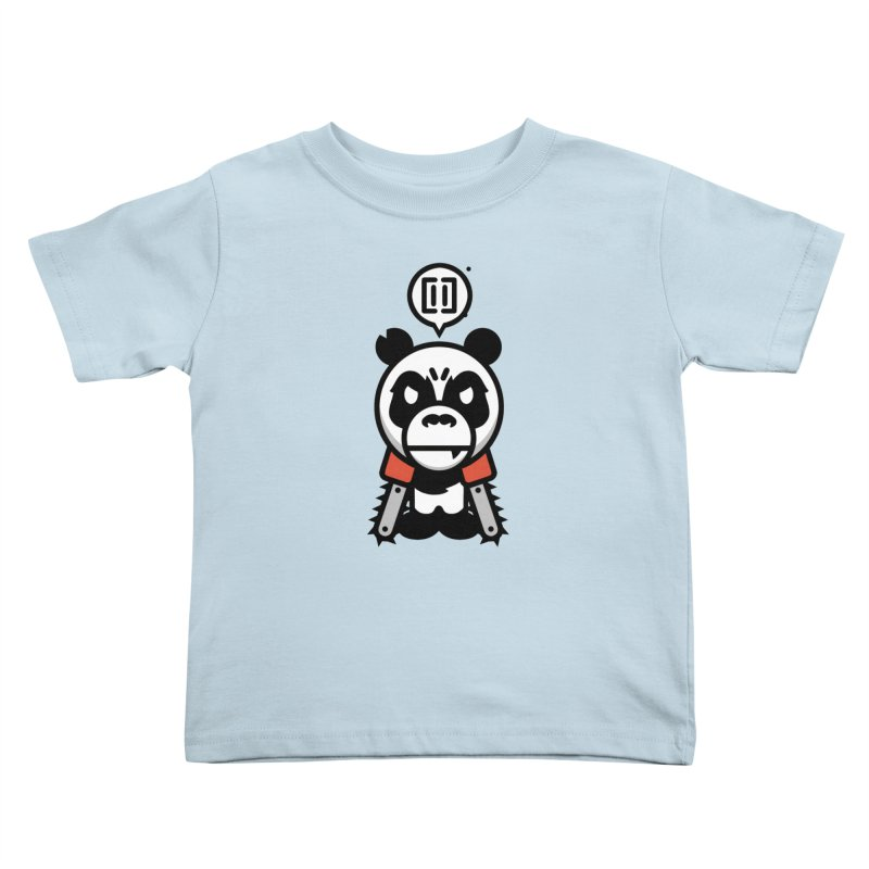 Cute Chainsaw Panda Kids Toddler T-Shirt by pause's Artist Shop