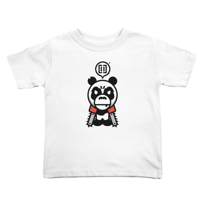 Cute Chainsaw Panda Kids Toddler T-Shirt by pause's Artist Shop