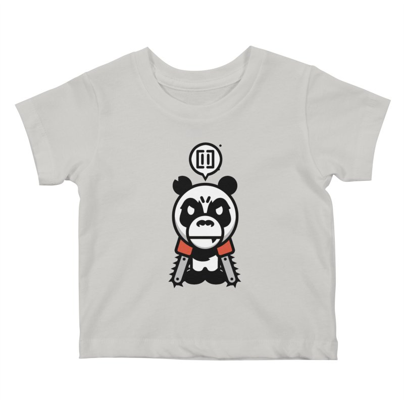 Cute Chainsaw Panda Kids Baby T-Shirt by pause's Artist Shop