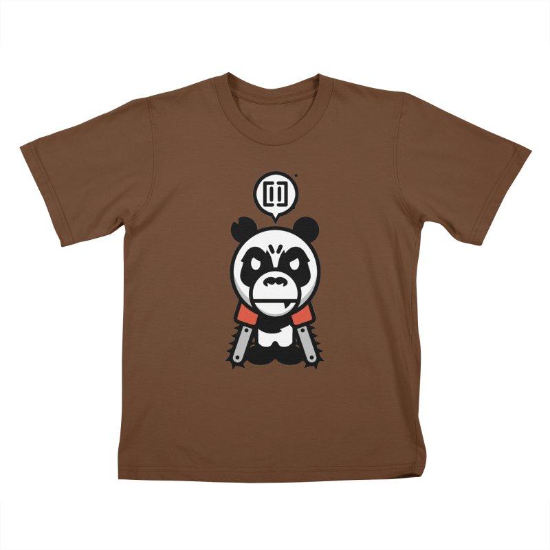 Cute Chainsaw Panda Kids T-Shirt by pause's Artist Shop