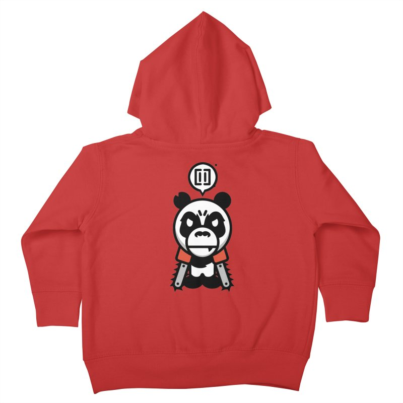 Cute Chainsaw Panda Kids Toddler Zip-Up Hoody by pause's Artist Shop