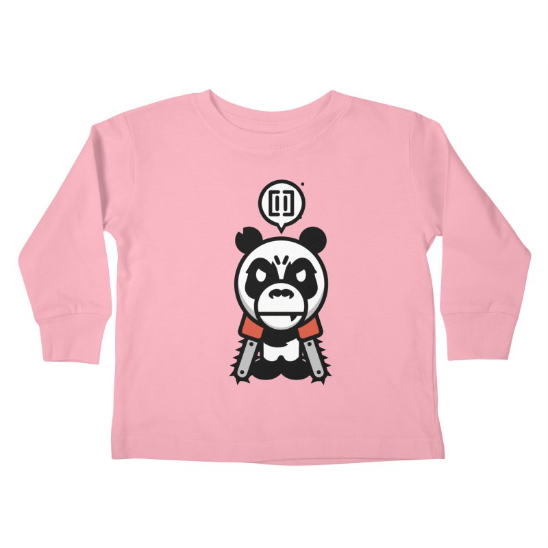 Cute Chainsaw Panda Kids Toddler Longsleeve T-Shirt by pause's Artist Shop