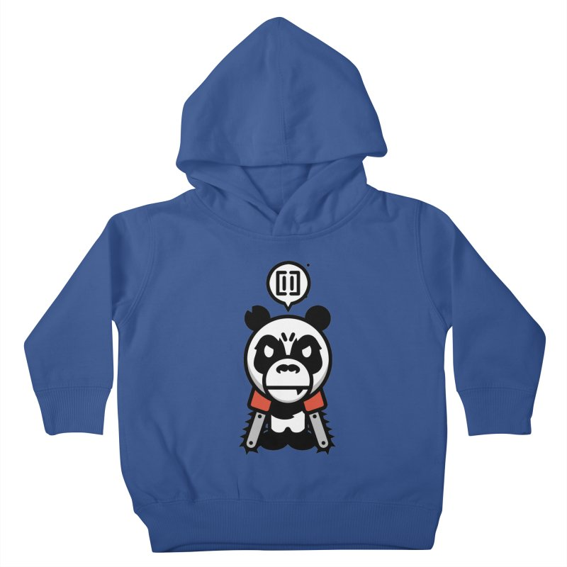 Cute Chainsaw Panda Kids Toddler Pullover Hoody by pause's Artist Shop