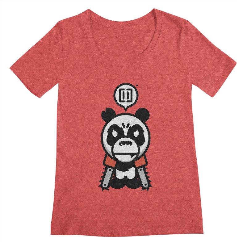 Cute Chainsaw Panda Women's Scoopneck by pause's Artist Shop