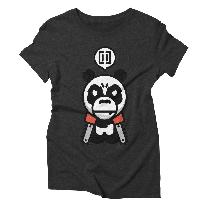 Cute Chainsaw Panda Women's Triblend T-Shirt by pause's Artist Shop