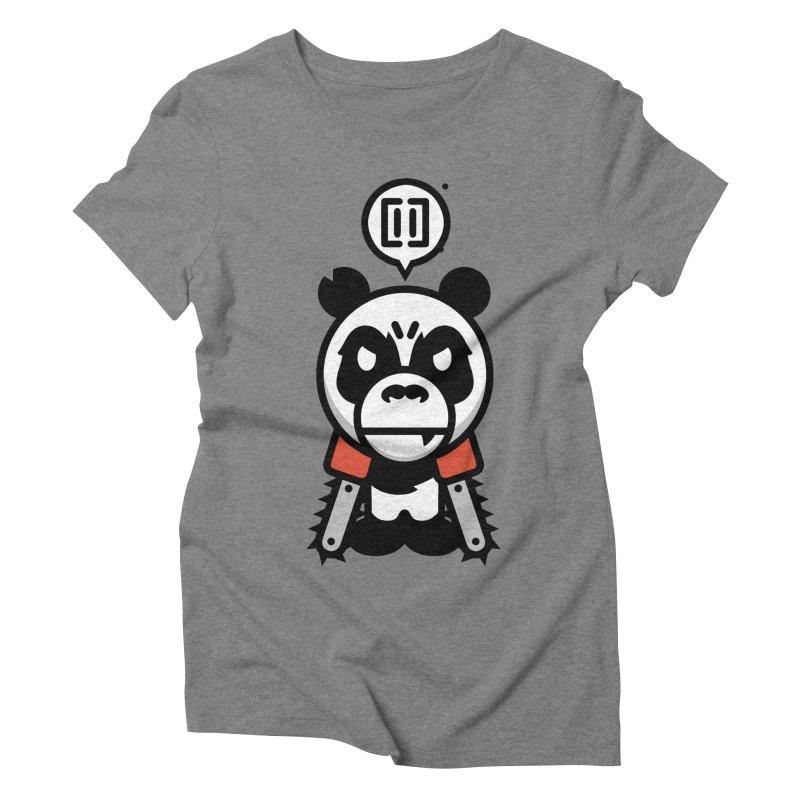 Cute Chainsaw Panda Women's Triblend T-Shirt by pause's Artist Shop