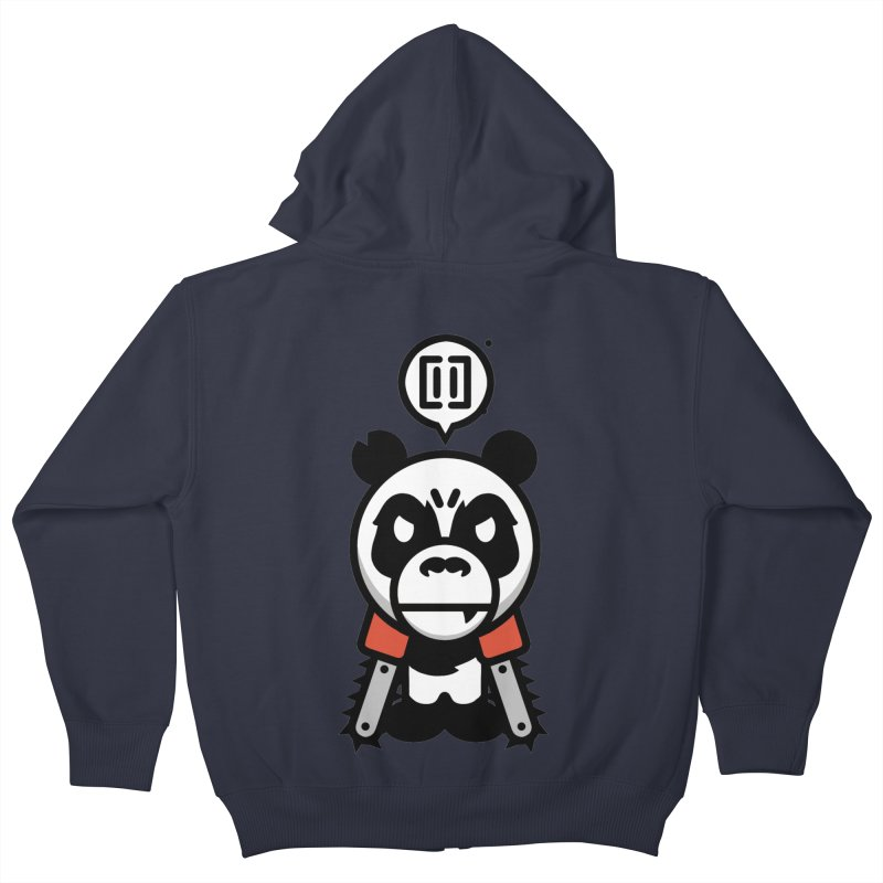 Cute Chainsaw Panda Kids Zip-Up Hoody by pause's Artist Shop