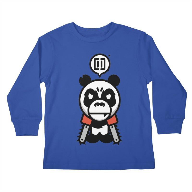 Cute Chainsaw Panda Kids Longsleeve T-Shirt by pause's Artist Shop