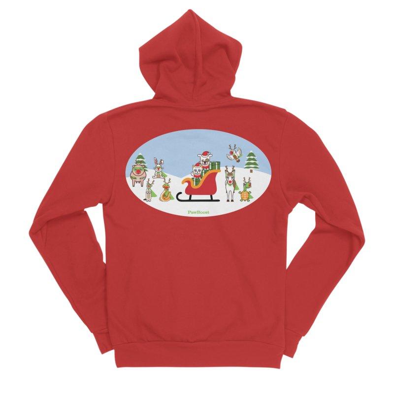 Santa Paws & Reindeer Women's Zip-Up Hoody by PawBoost's Shop