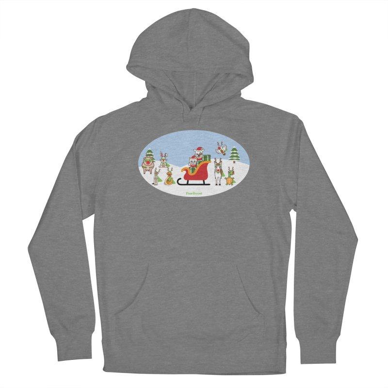Santa Paws & Reindeer Women's Pullover Hoody by PawBoost's Shop
