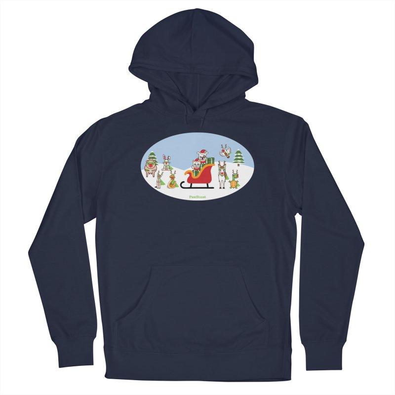 Santa Paws & Reindeer Men's Pullover Hoody by PawBoost's Shop