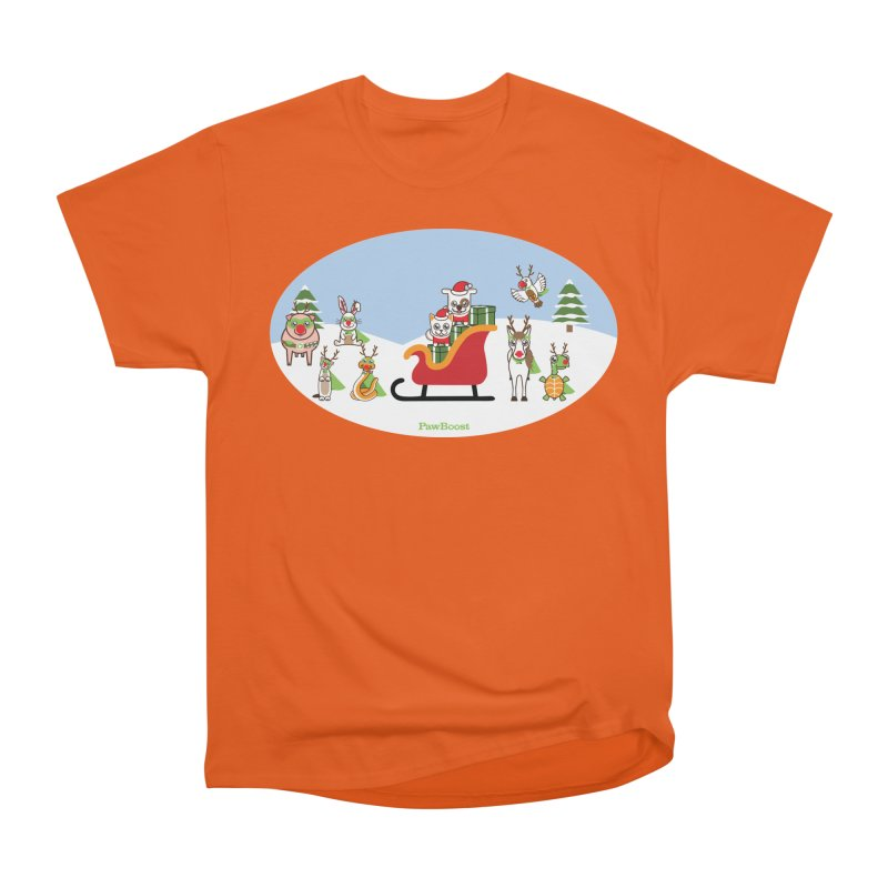 Santa Paws & Reindeer Men's T-Shirt by PawBoost's Shop