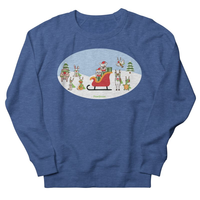 Santa Paws & Reindeer Men's Sweatshirt by PawBoost's Shop