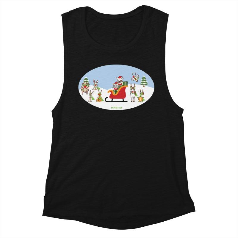 Santa Paws & Reindeer Women's Tank by PawBoost's Shop