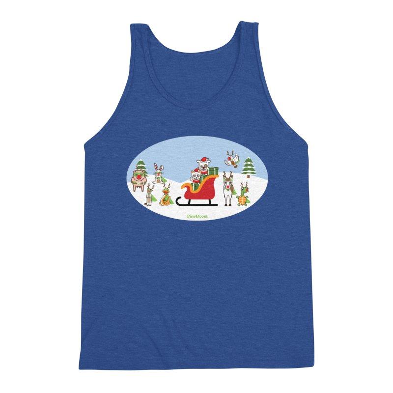 Santa Paws & Reindeer Men's Tank by PawBoost's Shop
