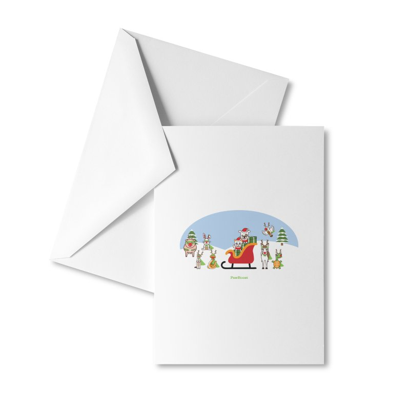 Santa Paws & Reindeer Accessories Greeting Card by PawBoost's Shop