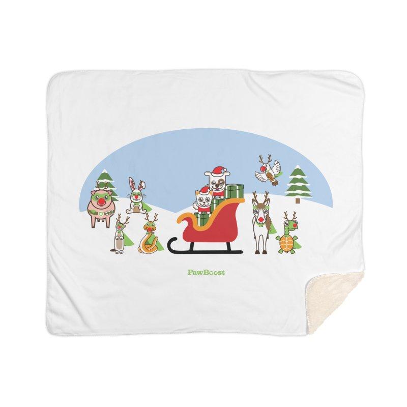 Santa Paws & Reindeer Home Blanket by PawBoost's Shop
