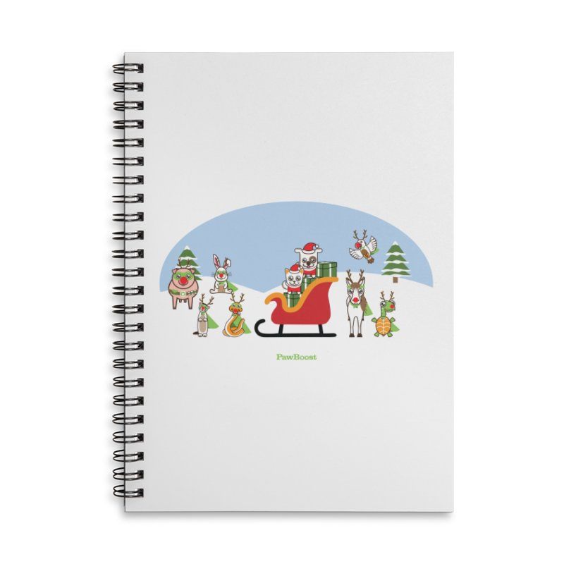 Santa Paws & Reindeer Accessories Notebook by PawBoost's Shop