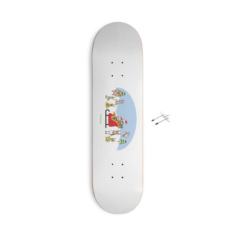 Santa Paws & Reindeer Accessories Skateboard by PawBoost's Shop