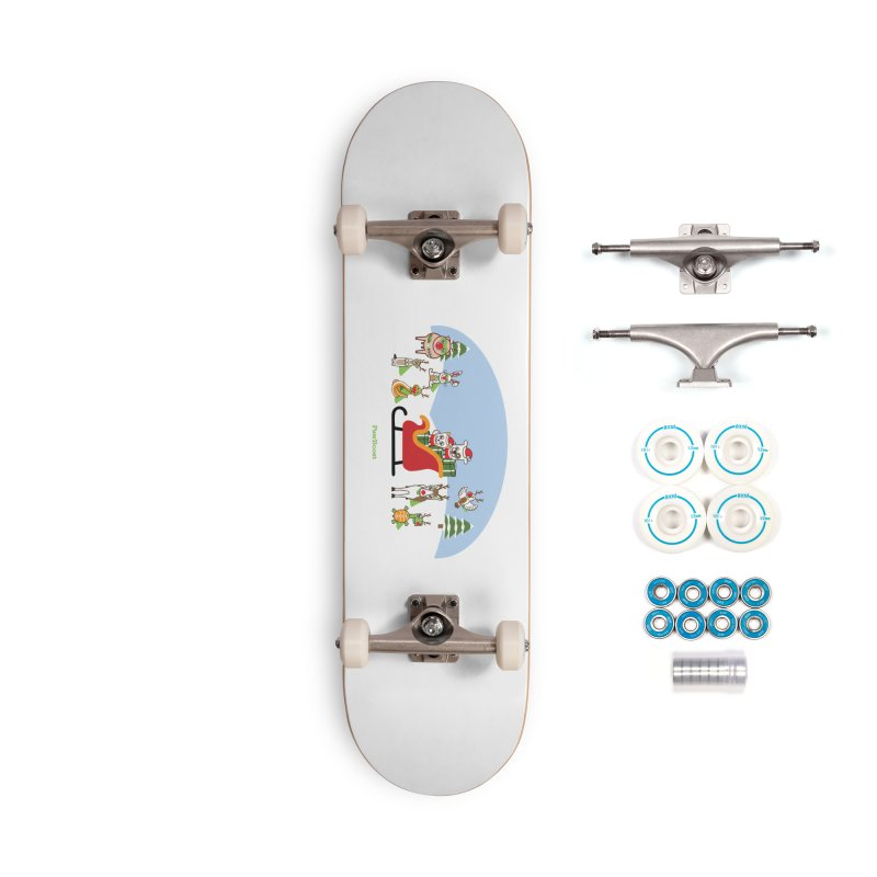 Santa Paws & Reindeer Accessories Skateboard by PawBoost's Shop