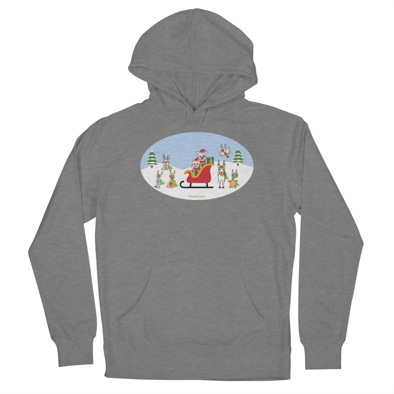 Santa Paws & Reindeer Men's French Terry Pullover Hoody by PawBoost's Shop