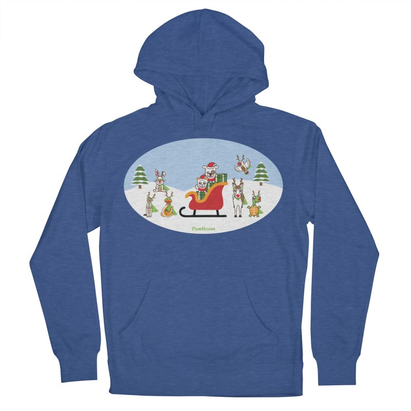 Santa Paws & Reindeer Women's French Terry Pullover Hoody by PawBoost's Shop