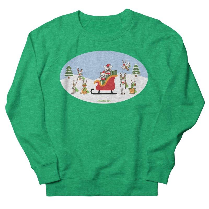 Santa Paws & Reindeer Women's Sweatshirt by PawBoost's Shop