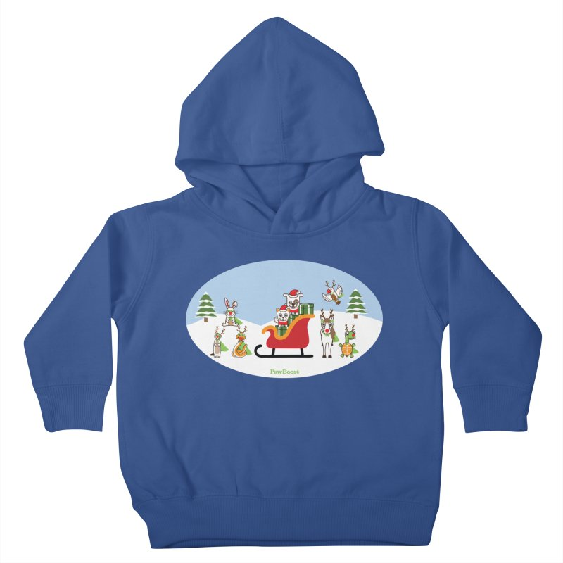 Santa Paws & Reindeer Kids Toddler Pullover Hoody by PawBoost's Shop