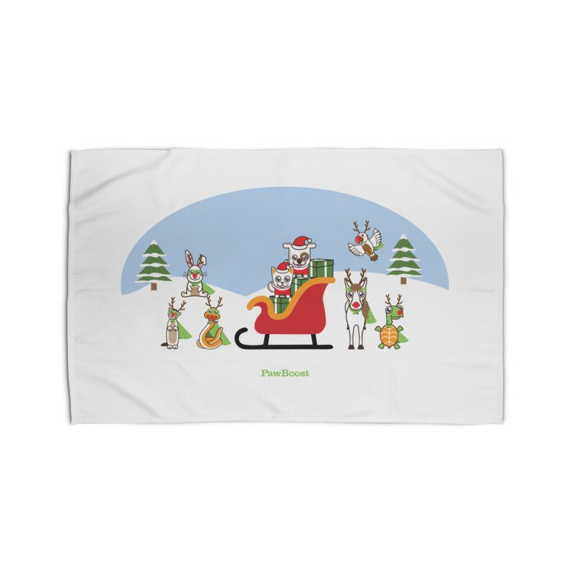 Santa Paws & Reindeer Home Rug by PawBoost's Shop