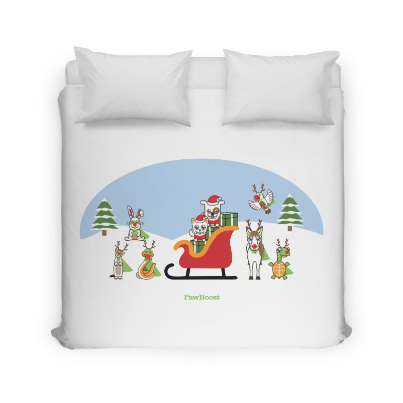 Santa Paws & Reindeer Home Duvet by PawBoost's Shop