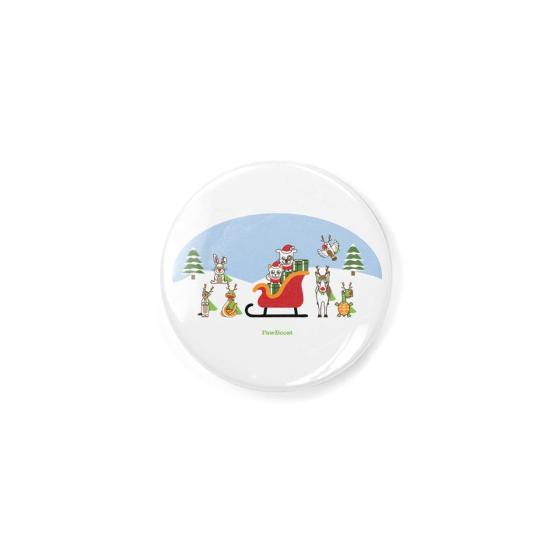 Santa Paws & Reindeer Accessories Button by PawBoost's Shop
