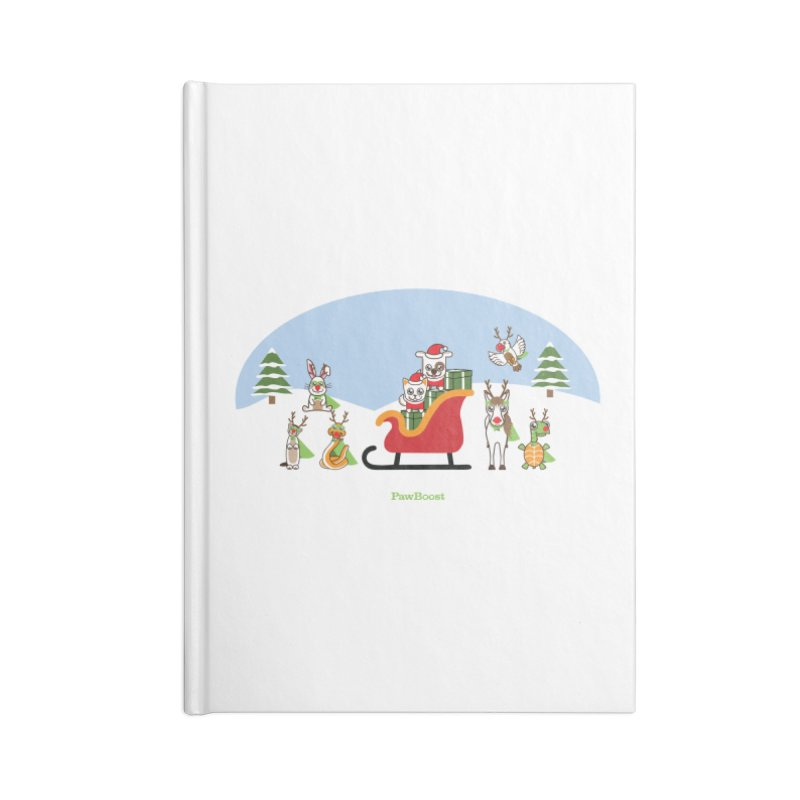 Santa Paws & Reindeer Accessories Lined Journal Notebook by PawBoost's Shop