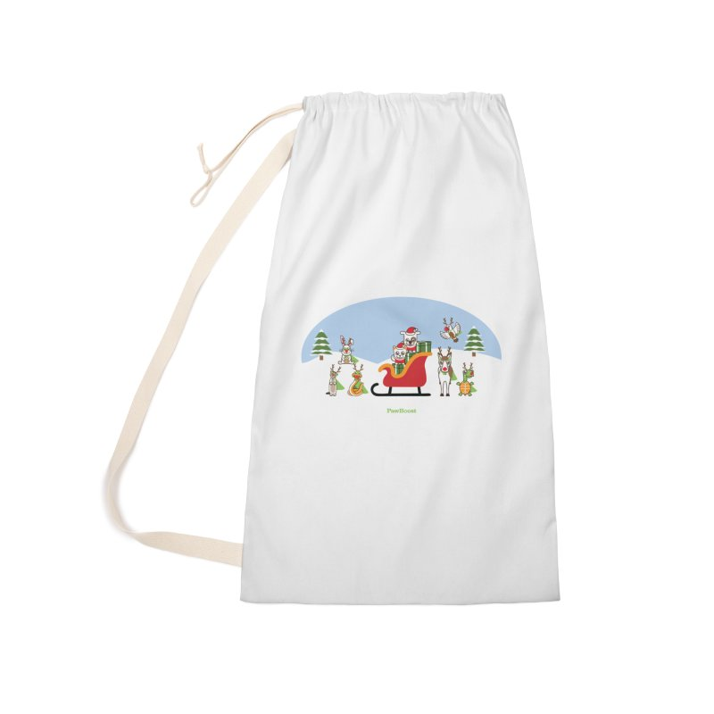 Santa Paws & Reindeer Accessories Laundry Bag Bag by PawBoost's Shop